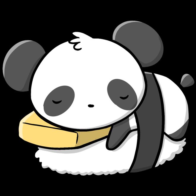 CutieSquad Sticker set - Pandas Sushi