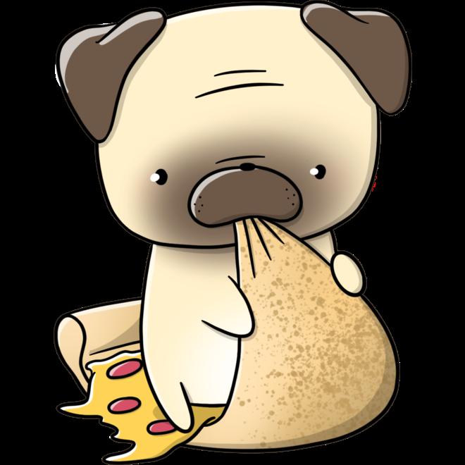 CutieSquad Sticker set - Pugs with food
