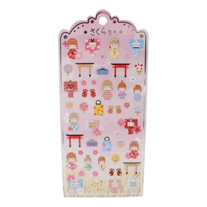 Sakura doll Nekoni Stickers