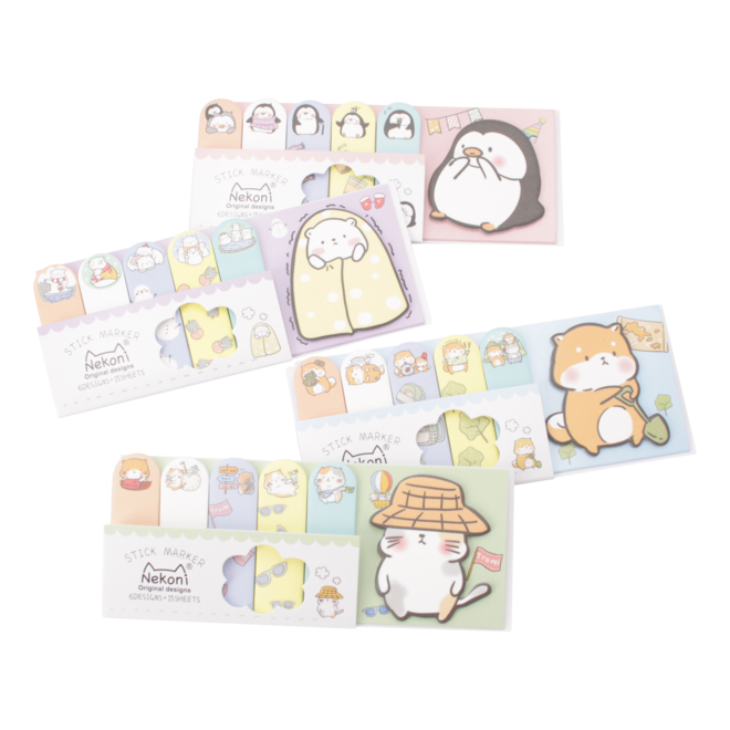Cute animal sticky notes A