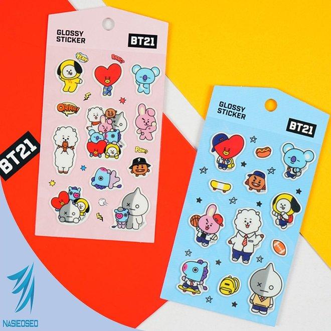 BT21 Glossy Sticker - School