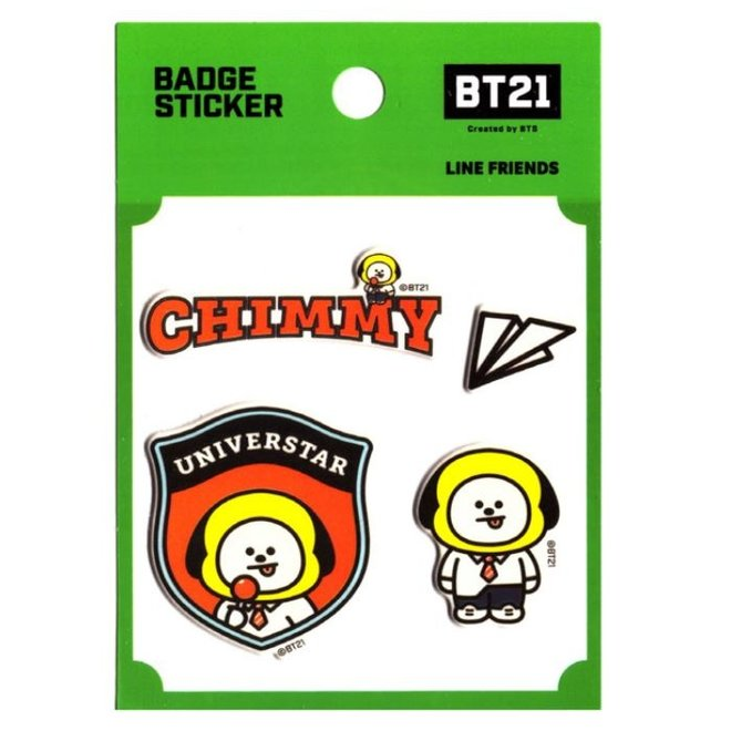 BT21 Badge Sticker - CHIMMY