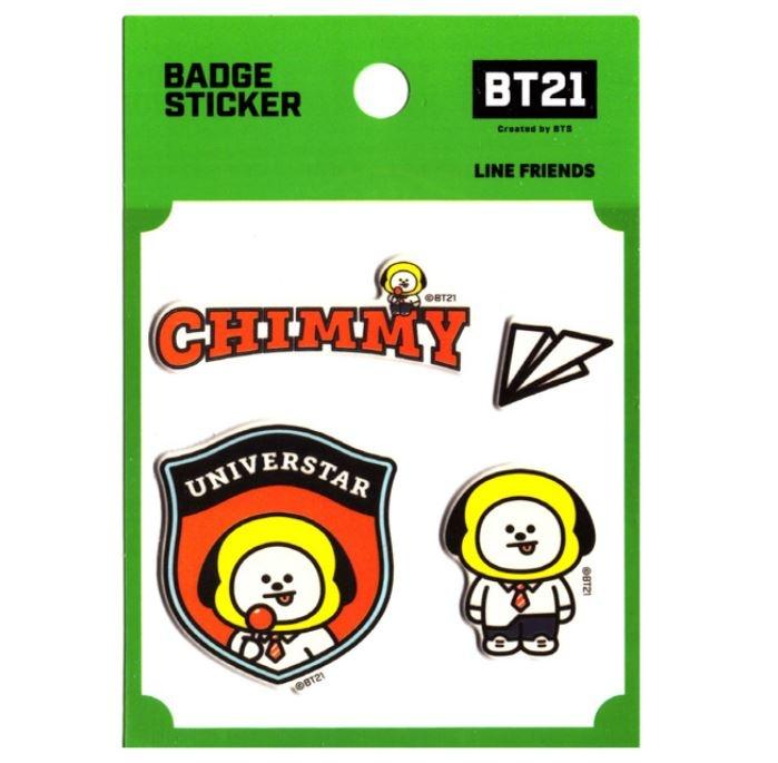BT21 BT21 Badge Sticker - CHIMMY