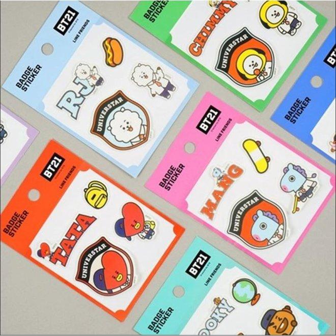BT21 Badge Sticker - RJ