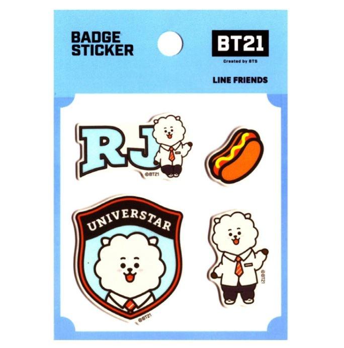 BT21 BT21 Badge Sticker - RJ