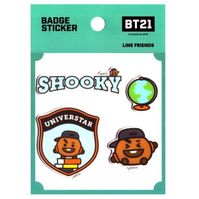 BT21 Badge Sticker - SHOOKY