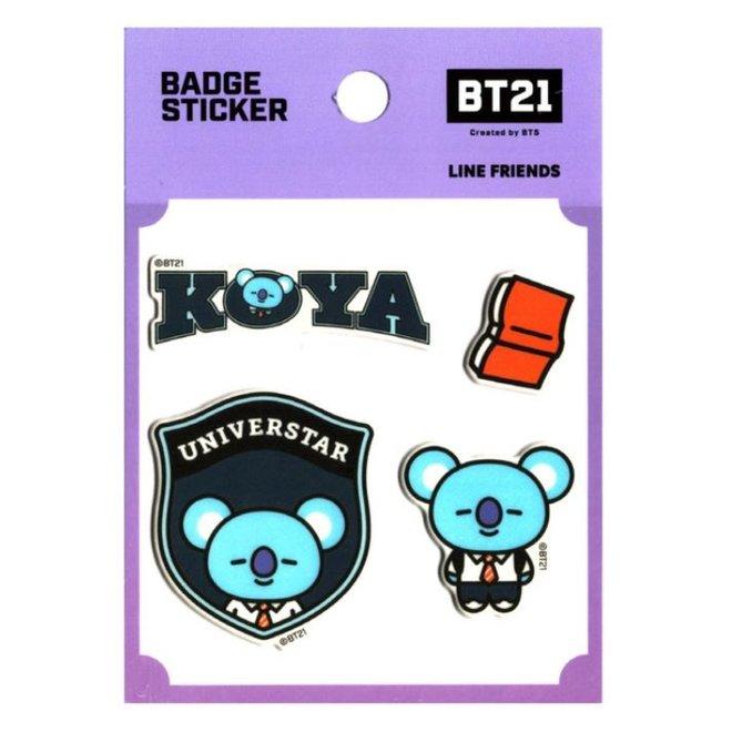 BT21 Badge Sticker - KOYA