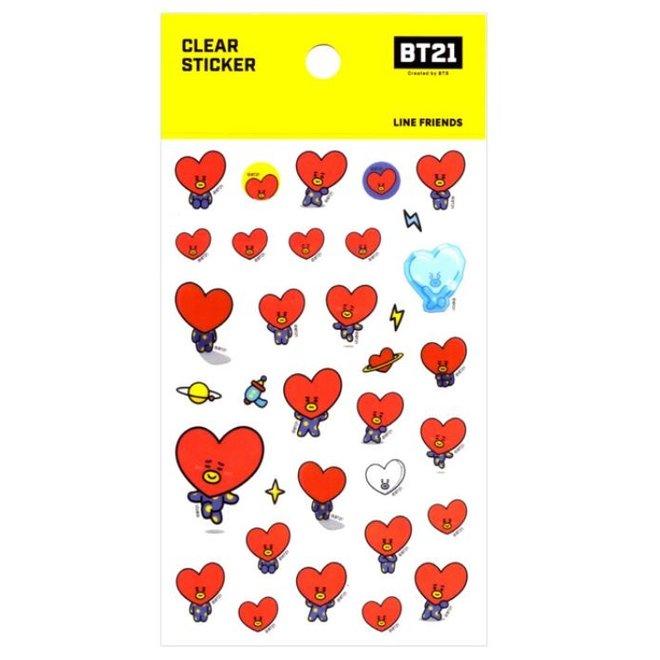 BT21 Clear Sticker - TATA