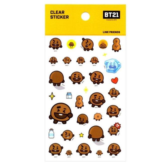 BT21 Clear Sticker - SHOOKY