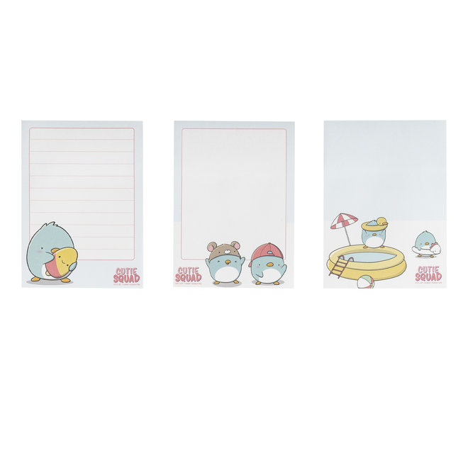 CutieSquad Sticky Notes - Kawaii Penguins Friends