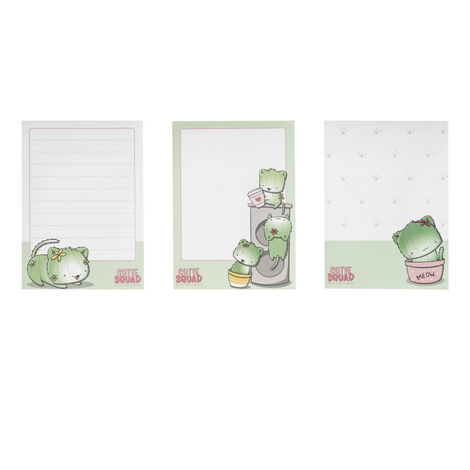 CutieSquad Sticky Notes - Cactus Cats Group