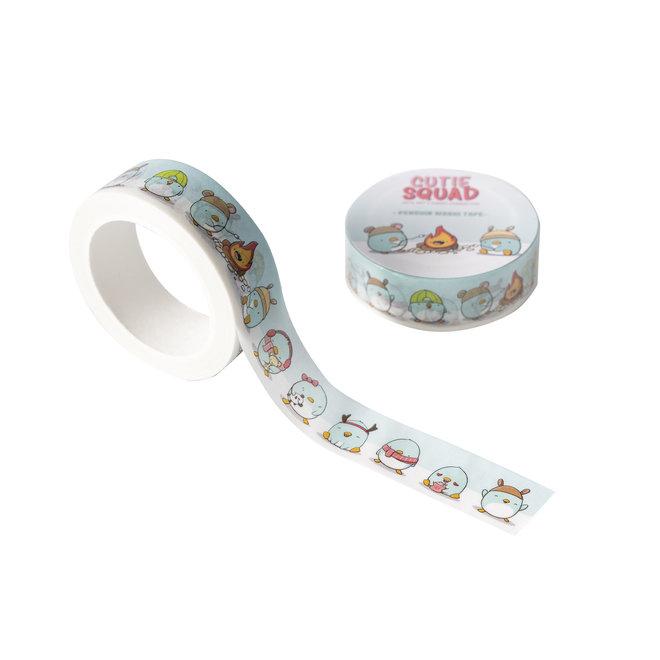 CutieSquad Washi Tape - Kawaii Penguins
