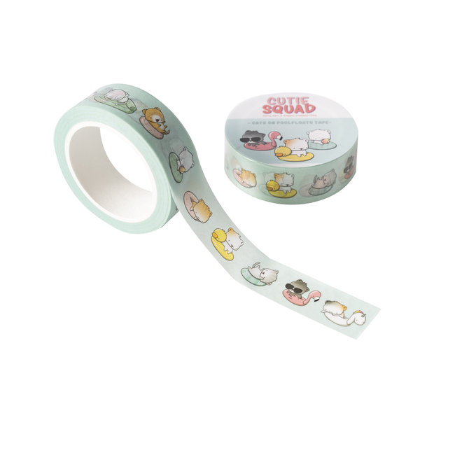 Washi Tape - Poolfloat Cats