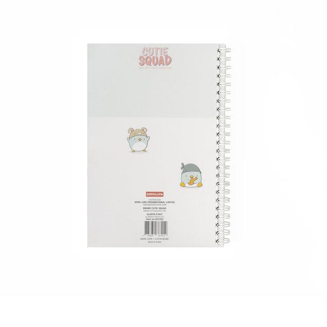 CutieSquad A5 Notebook - Summer Penguins