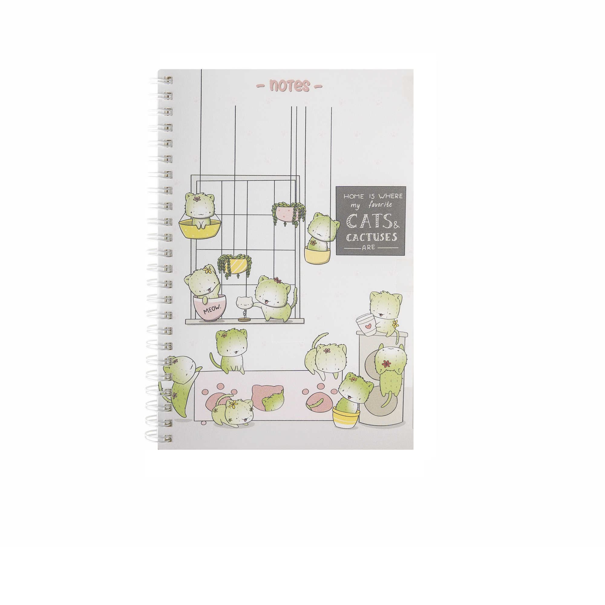 CutieSquad A5 Notebook - Cactus Cats