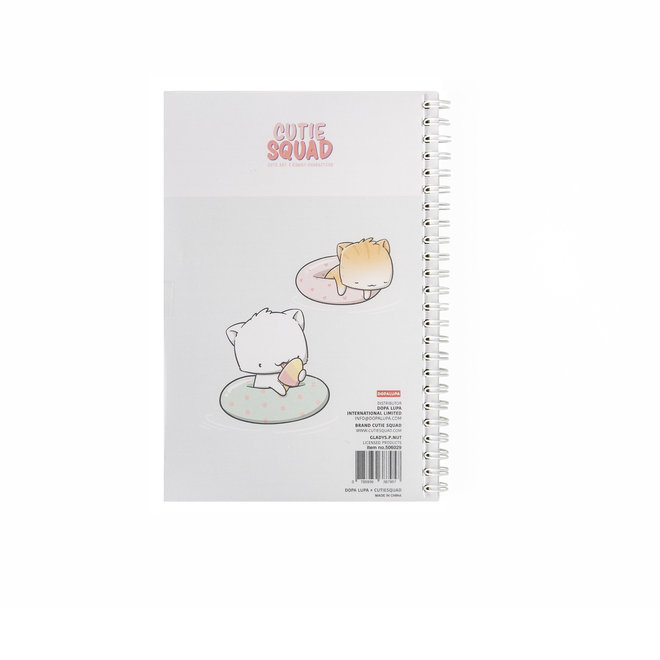 CutieSquad A5 Notebook - Poolfloat Cats