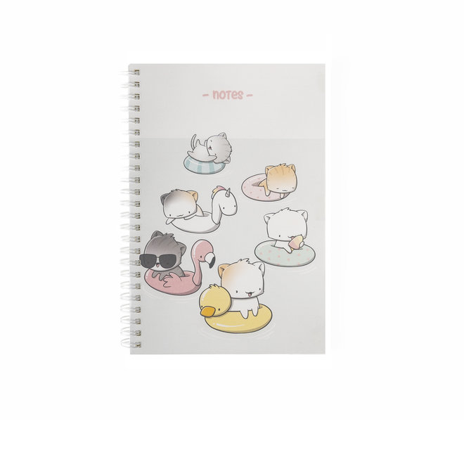 A5 Notebook - Poolfloat Cats