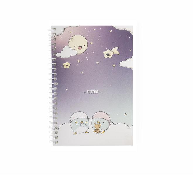 CutieSquad A5 Notebook - Penguins