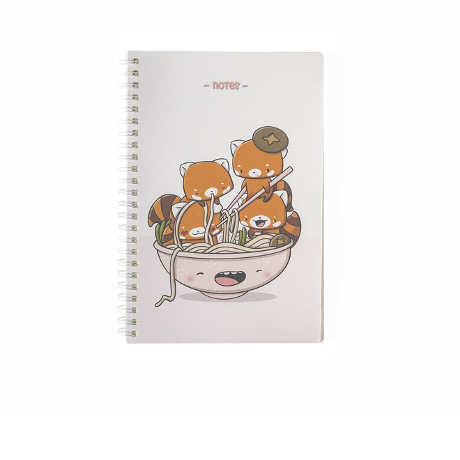 CutieSquad A5 Notebook - Hungry Red Pandas