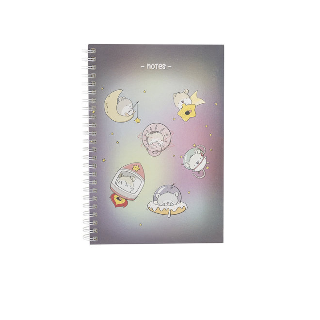 A5 Notebook - Space Hamsters