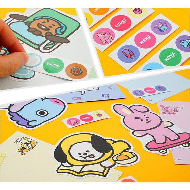 BT21 Briefpapier set met enveloppen en stickers - SHOOKY