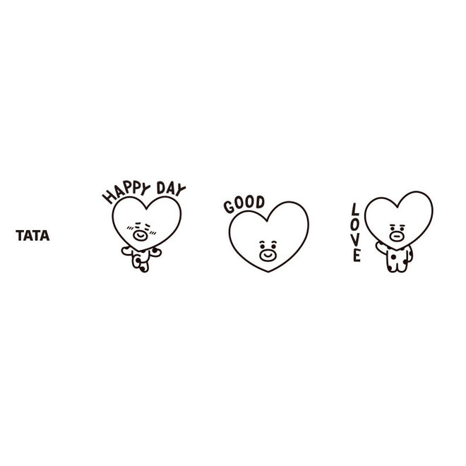 BT21 Three-piece stamp - TATA