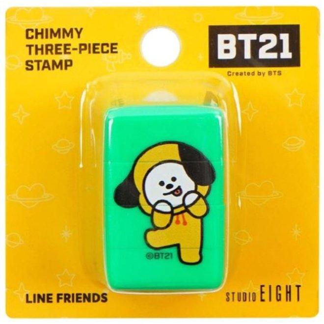 BT21 Three-piece stamp - CHIMMY