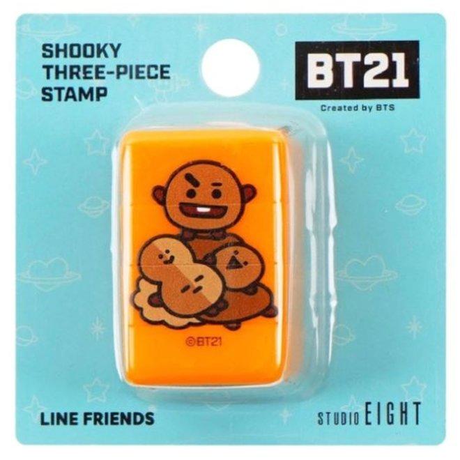 BT21 Driedelige stempel - SHOOKY