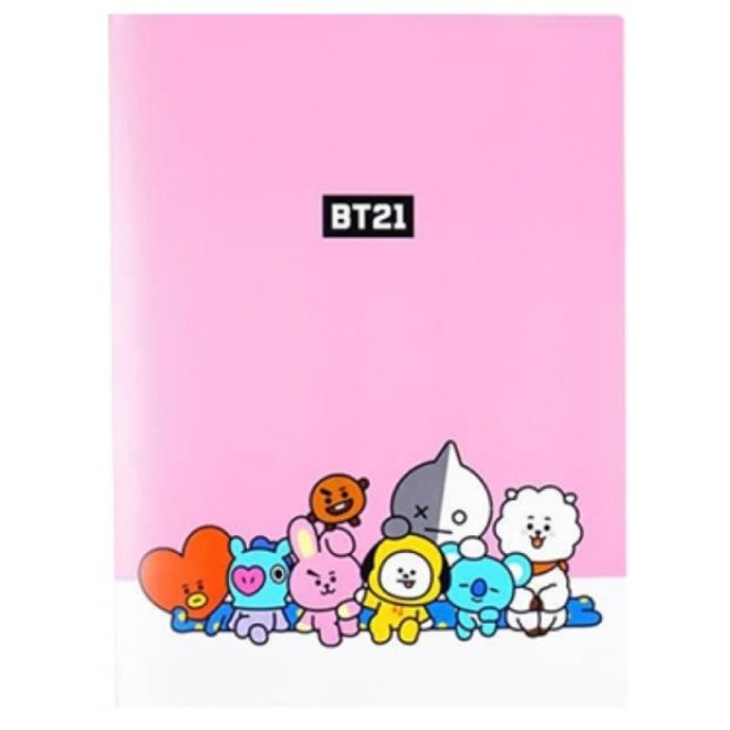 BT21 Clear File - Pink