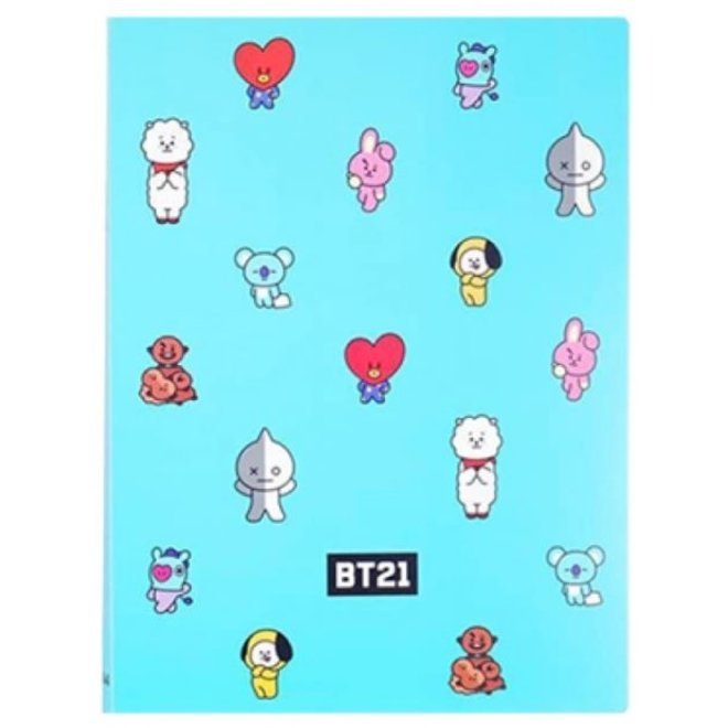 BT21 Clear File - Turquoise