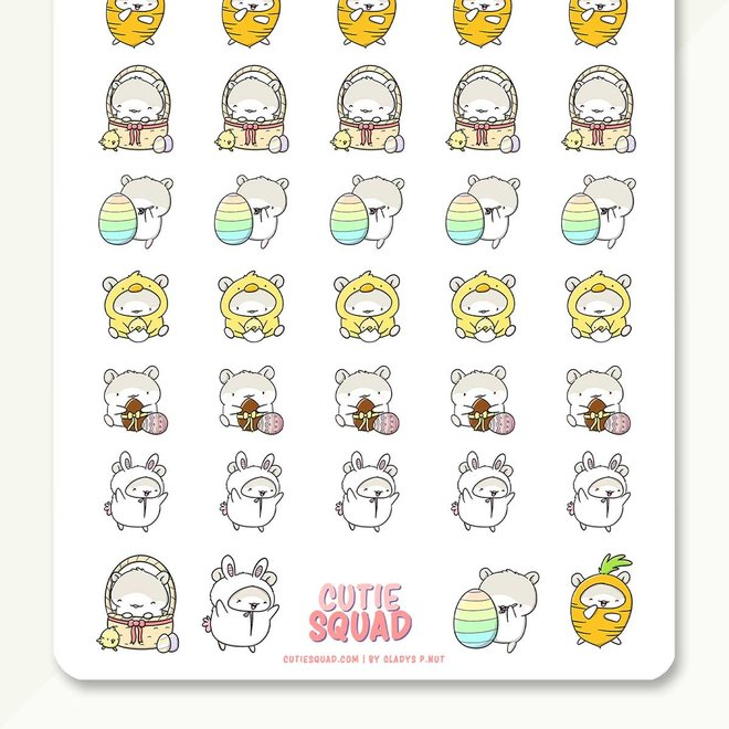 CutieSquad Stickervel - Mo's Easter (LIMITED!)