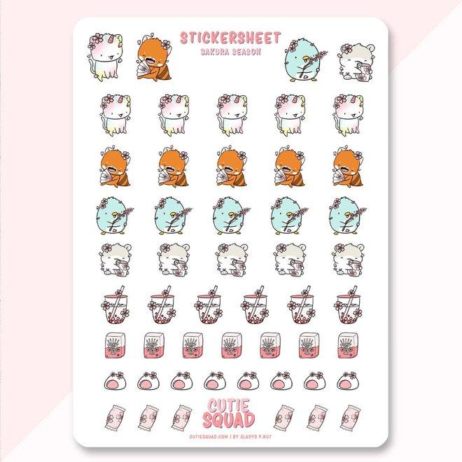 CutieSquad Stickervel - Sakura Season