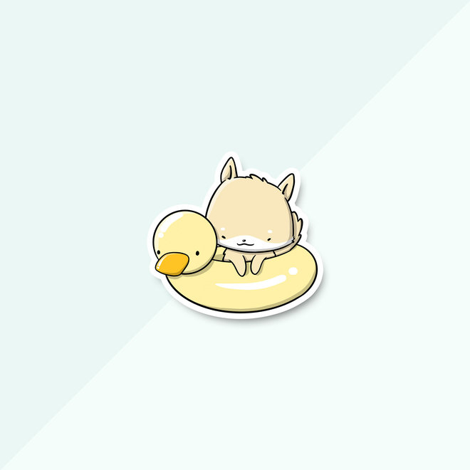 CutieSquad Sticker set - Dogs Poolfloat (LIMITED!)