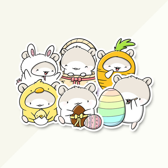 CutieSquad Sticker set - Mo's Easter (LIMITED!)
