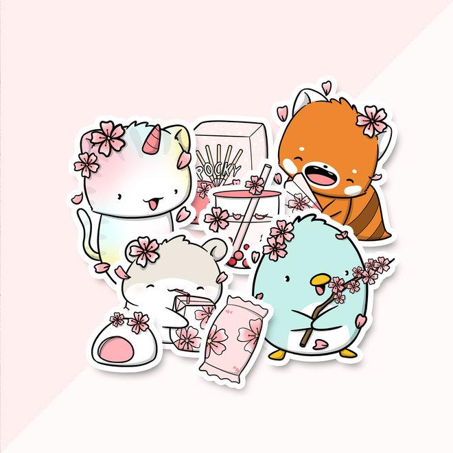 Sticker set - Sakura Season
