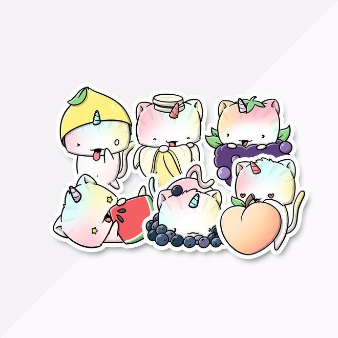 Sticker set - Fruit Cats (LIMITED!)