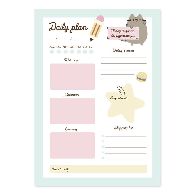 Pusheen To-do Notepad - Foodie Collection