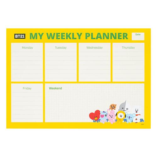 BT21 BT21 Weekplanner