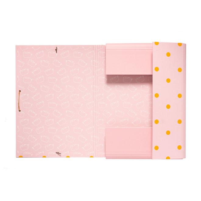 Pusheen elastic folder - Icecream dots