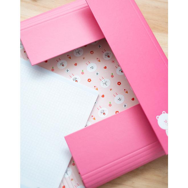 Line Friends elastic folder - Cony
