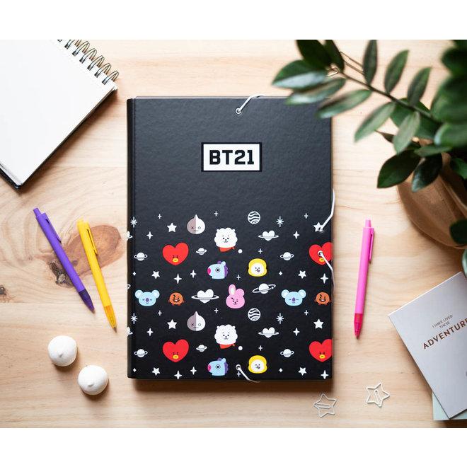 BT21 elastic folder