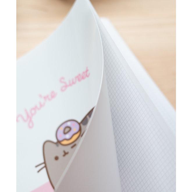 Pusheen A4 grid notebook - You're sweet