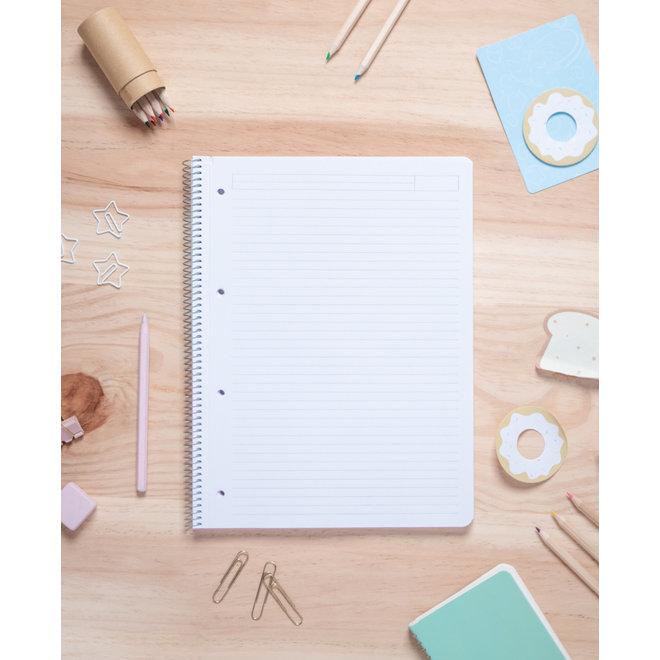 Pusheen A4 lined notebook - Balanced Diet