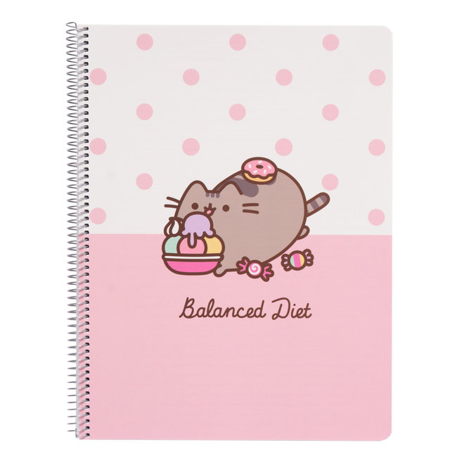 Pusheen A4 notebook met lijntjes - Balanced Diet