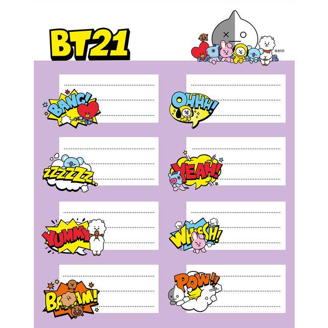 BT21 etiketten