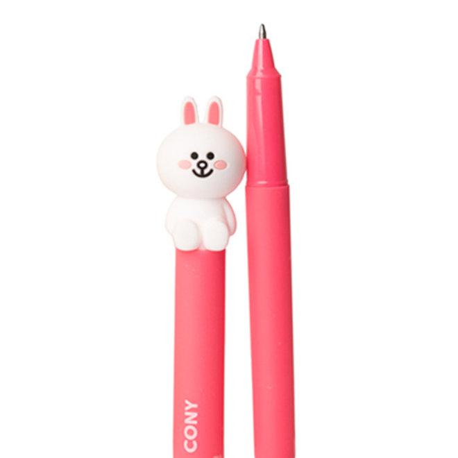 Line Friends pen met 3D figuurtje - Diverse