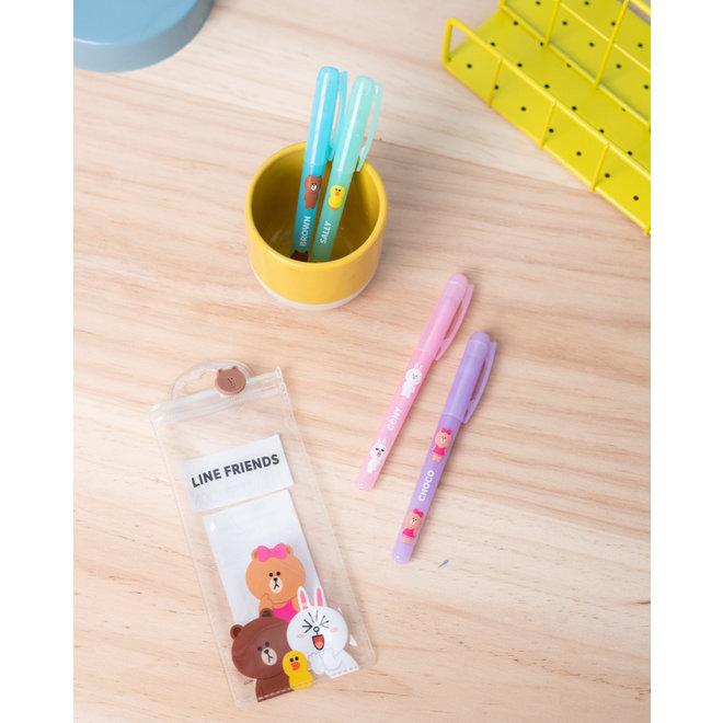 Line Friends gel pen set