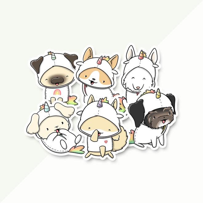 Sticker set - Dogs Unicorns (LIMITED!)