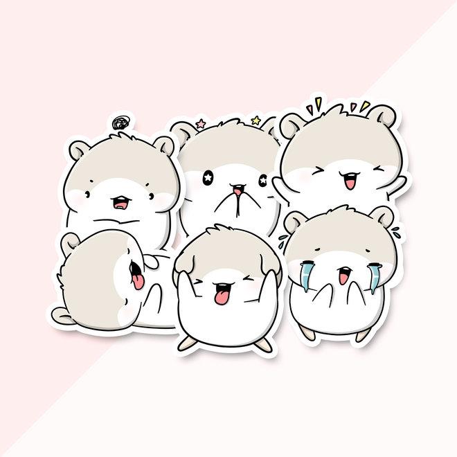 CutieSquad Sticker set - Mo's Emotes (LIMITED!)