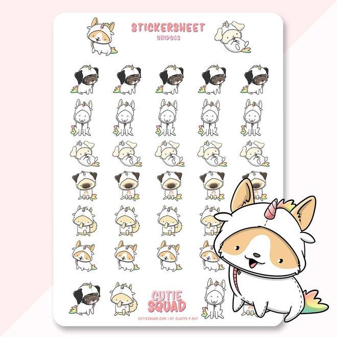 Sticker sheet - Dogs Unicorns (LIMITED!)